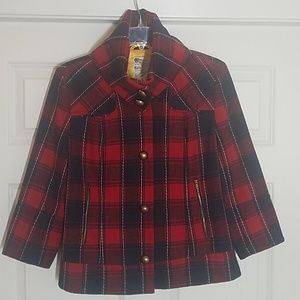 EUC Tulle woll blend flannel plaid jacket